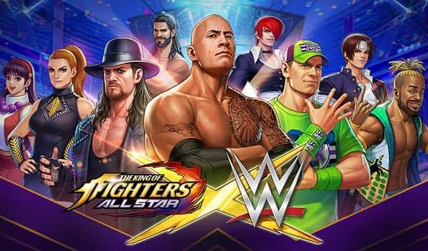 WWE invades King Of Fighters Allstar, courtesy of Netmarble.
