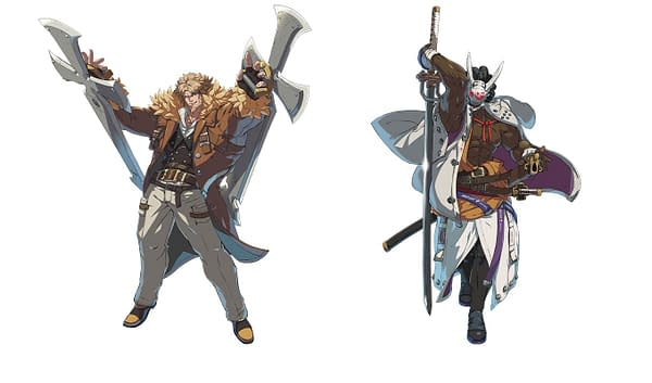 A look at both Nagoriyuki and Leo Whitefang, courtesy of Arc System Works.
