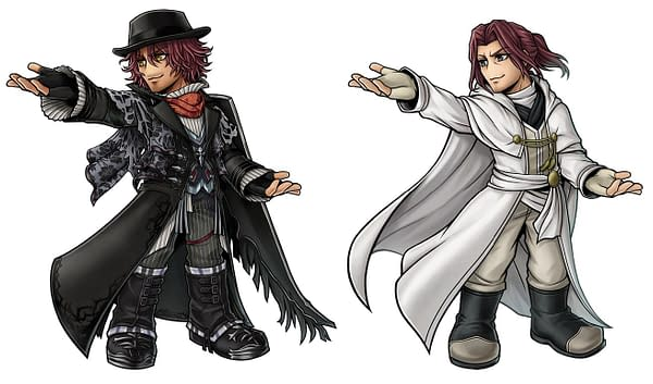 A look at Ardyn in two of his costumes, courtesy of Square Enix.