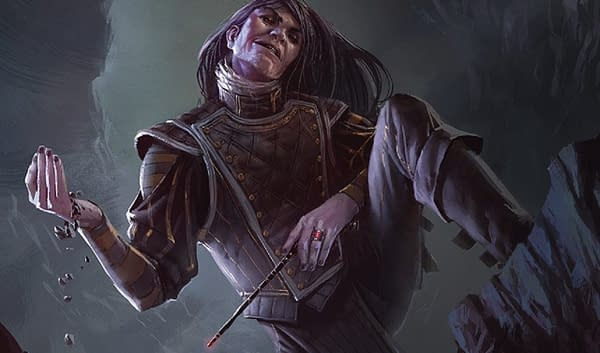 The art for Mairsil, the Pretender, a card from Magic: The Gathering's Commander 2017 release and the focus for this deck tech. Illustrated by Izzy.