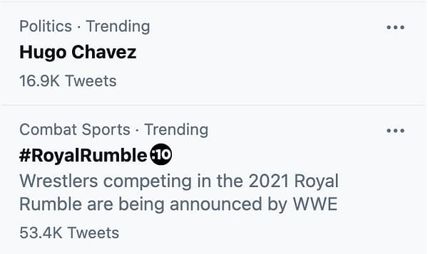 Is it a coincidence that El Presidente trends on the day of the Royal Rumble? Or is El Presidente's 2nd career finally taking off?!