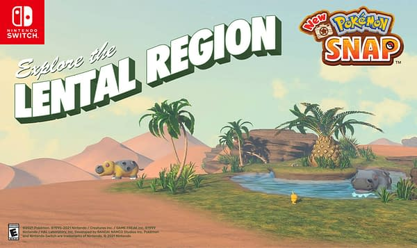 Hey, it almost looks like a real postcard in New Pokémon Snap. Courtesy of Nintendo.