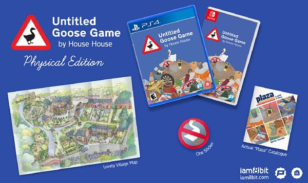 A look inside the physical edition of Untitled Goose Game, courtesy of iam8bit.
