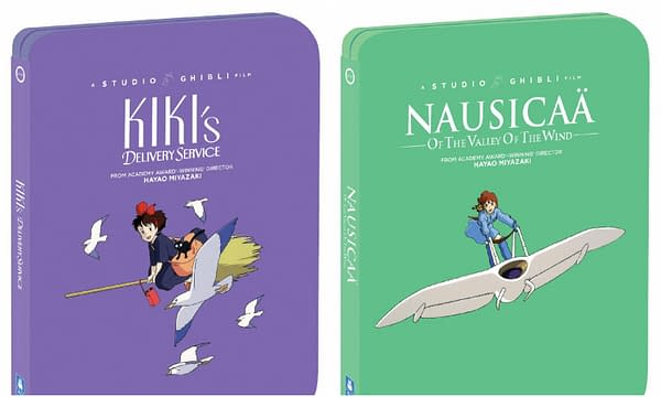 Kiki's Delivery Service and Nausicaa steelbooks. Credit Shout Factory