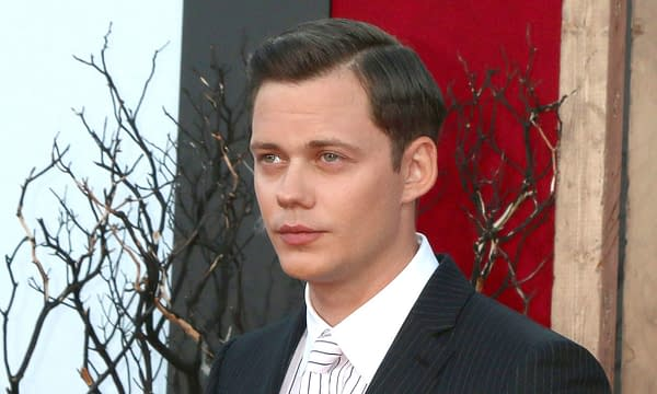 """Bill Skarsgard at the """"It Chapter Two"""" Premiere at the Village Theater on August 26, 2019 in Westwood, CA. Editorial credit: Kathy Hutchins / Shutterstock.com"""