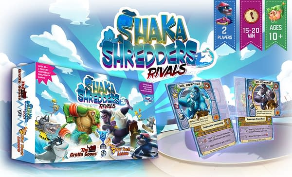 A product shot of Shaka Shredders: Rivals by Sunslap Studios.