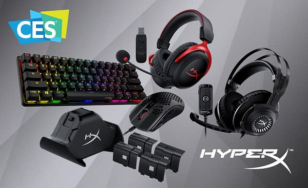 A look at the multiple products from HyperX being shown off this week at CES 2021.