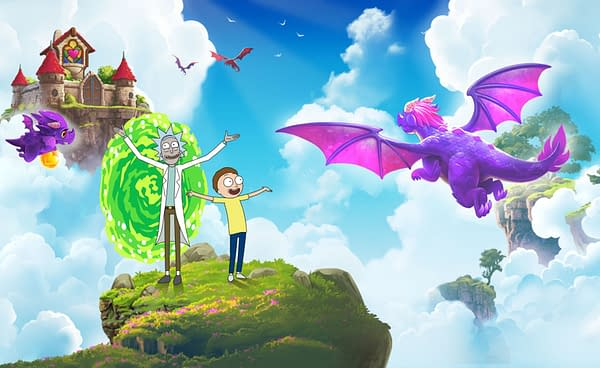 Rick and Morty revisit the world of Merge Dragons, courtesy of Zynga.