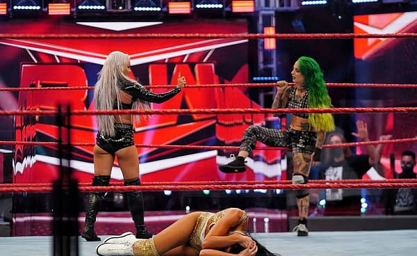 WWE Raw 8/3/20 Part 2 - Liv Morgan and Ruby Riott Together At Last (Image: WWE)