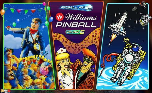 Some all time classics are on the way in Williams Pinball: Volume 6, courtesy of Zen Studios.
