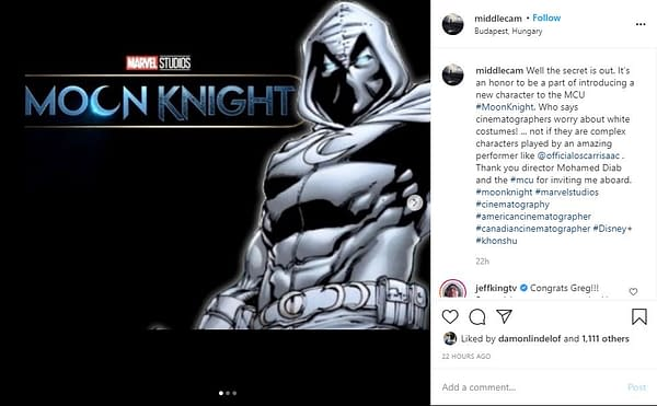Moon Knight: Oscar Isaac as Marc Spector, White Costume Confirmed