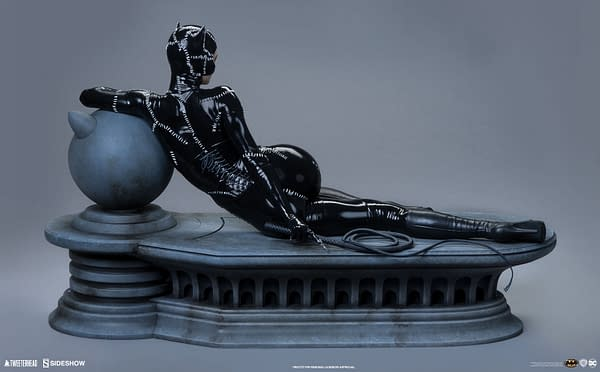 Batman Returns Catwoman Lounges Around with New Tweeterhead Statue
