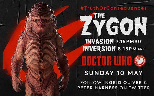 """The next Doctor Who Lockdown global rewatch will be """"Invasion of the Zygons"""" and """"Inversion of the Zygons"""", image courtesy of BBC."""