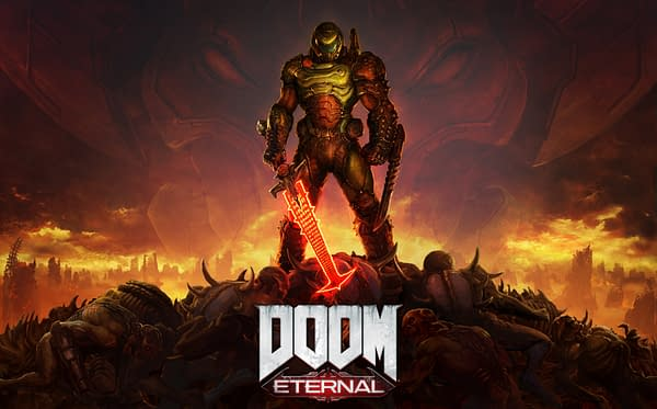 Digital only for DOOM Eternal? Its true, hell has come to Earth. Courtesy of Bethesda Softworks.