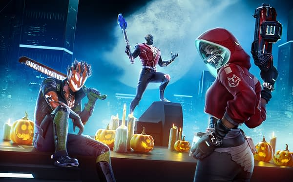 Even in the distant future, somehow, Halloween has survived. Courtesy of Ubisoft.