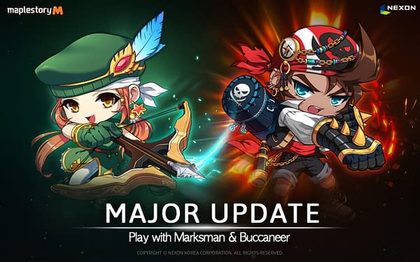 MapleStory M Adds the Marksman and Buccaneer Explorer Classes