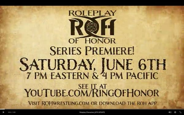 Pro Wrestling Meets Critical Role in New ROH Series Roleplay of Honor