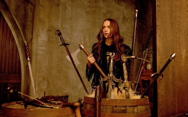 "WYNONNA EARP -- ""Holy War Part II"" Episode 406 -- Pictured: Melanie Scrofano as Wynonna Earp -- (Photo by: Michelle Faye/Wynonna Earp Productions, Inc./SYFY)"