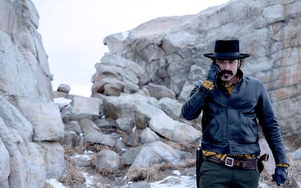 "WYNONNA EARP -- ""Holy War Part II"" Episode 406 -- Pictured: Tim Rozon as Doc Holliday -- (Photo by: Michelle Faye/Wynonna Earp Productions, Inc./SYFY)"