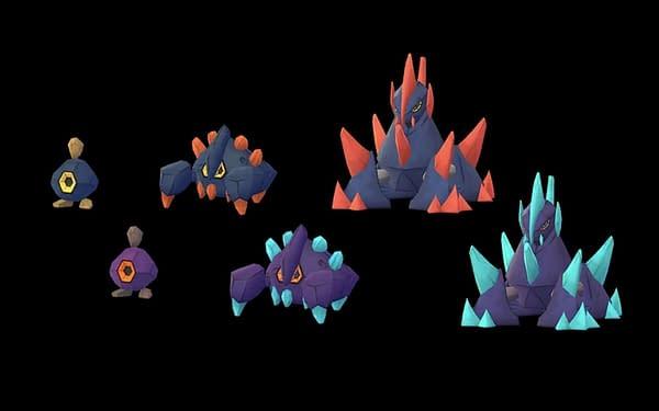 Shiny Roggenrola family arrives for Unova Week in Pokémon GO. Credit: Niantic