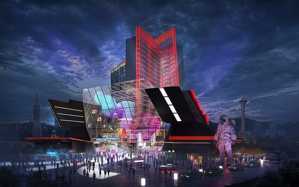 A look at the main entryway for the Las Vegas Atari Hotel, courtesy of GSD Group.