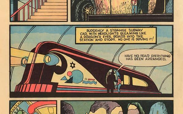 Whiz Comics #2 interior page, Fawcett Publications 1939.