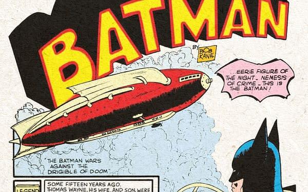 Detective Comics #33 title splash, DC Comics 1939.