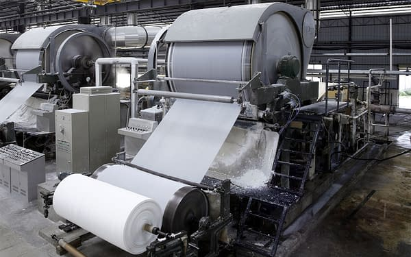 Paper mill machine, photo by LI CHAOSHU / Shutterstock.com.