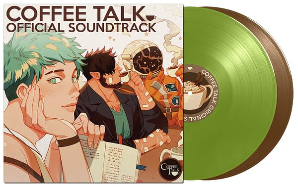 The cover of the Coffee Talk soundtrack, courtesy of Black Screen Records.