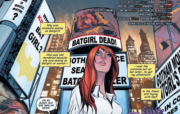 Batgirl #49 Suggests Joker Lives, But Someone Else Doesn't (Spoilers)