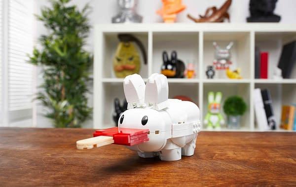 Mattel Creations Partners With Frank Kozik for Mega Bloks Labbit