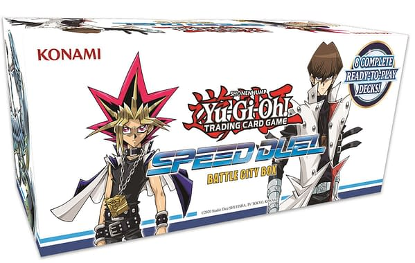 A look at the Yu-Gi-Oh! TCG Speed Duel Box, courtesy of Konami.
