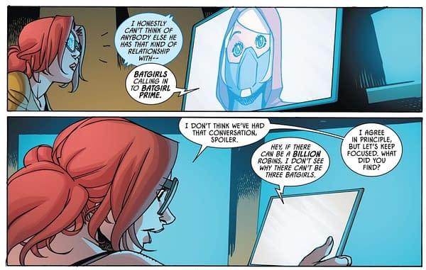 Stephanie and Cassandra Join Barbara as Batgirls in Batman #104