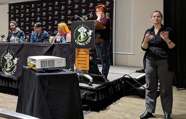 When Jason Latour Got to Tell the Spider-Verse Movie Producers How to Do Spider-Gwen Right – the Spider-Man Panel at ECCC