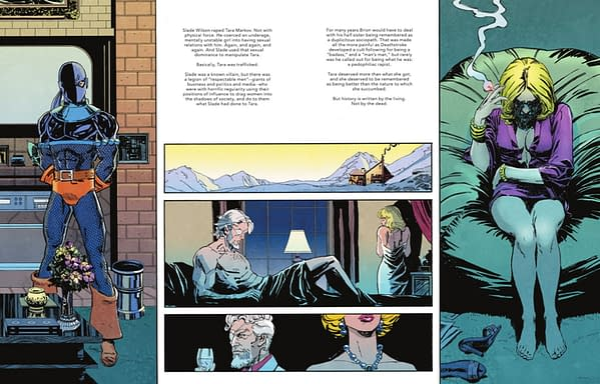 Today, DC Comics Defines Deathstroke As A Paedophiliac Rapist