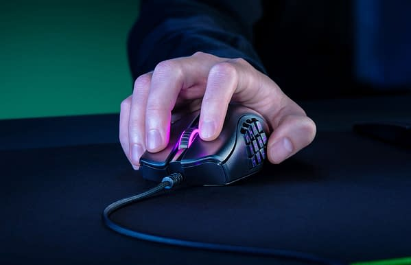A look at the new Naga X gaming mouse, courtesy of Razer.