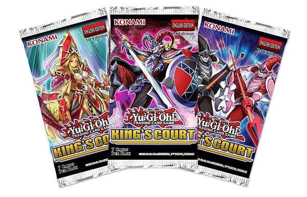 A look at the pack artwork for King's Court, courtesy of Konami.