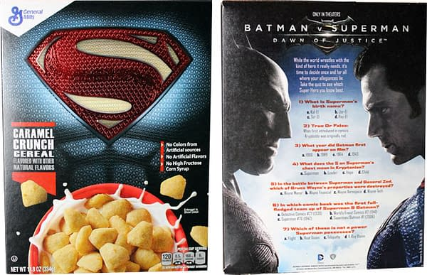 Superman Cereal Front and Back