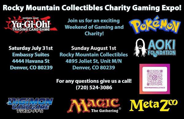More information regarding Rocky Mountain Collectibles' 2-day charity TCG expo.