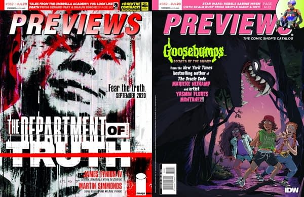 Department of Truth and Goosebumps on Diamond Previews Covers.