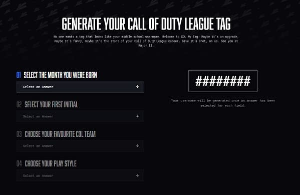 A look at the gamertag system, courtesy of CDL.