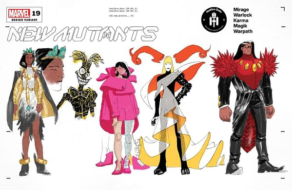 Cover image for NEW MUTANTS #19 LINS CHARACTER DESIGN VAR GALA