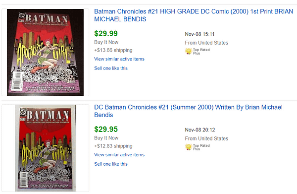 Copies Of Brian Michael Bendis's First DC Comic, Batman Chronicles #21, Sell For $30 On eBay