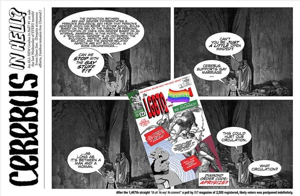 """""""Can We Stop It With The Gay Stuff?"""" – Dave Sim """"Promotes"""" New Cerebus One-Shot Titled 'LGBTQ-People'"""