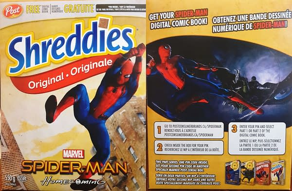 Spider-Man Post Cereal Boxes With The Code