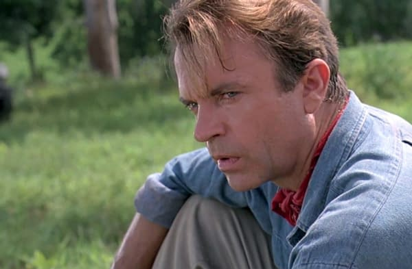 Sam Neill as Dr. Alan Grant in Jurassic Park (1993). Image courtesy of Universal