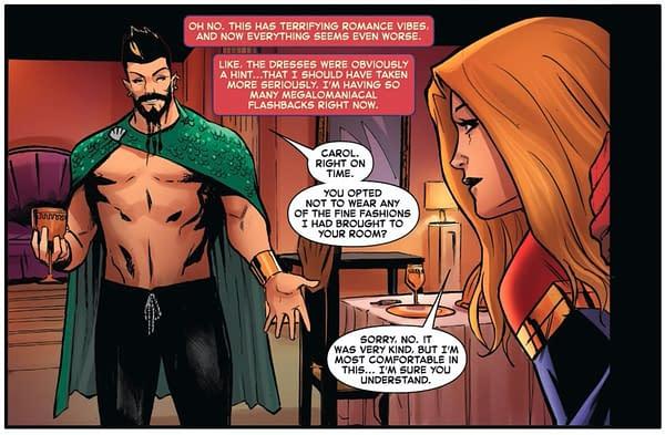 A scene from Captain Marvel #24