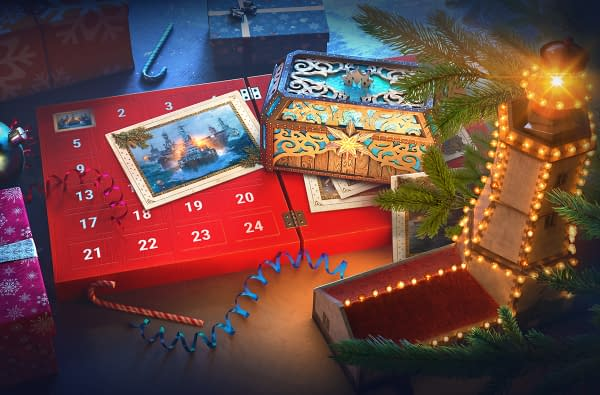 That's an interesting advent calendar from World Of Warships. Courtesy of Wargaming.