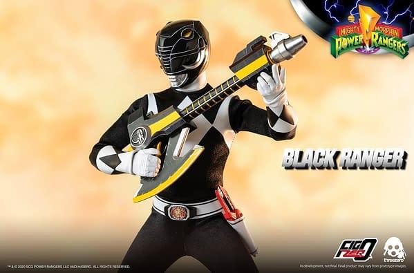 Power Rangers Black Ranger Brings the Might to Hasbro and threezero