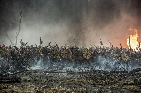 """Katheryn Winnick Talks [SPOILER]'s Death in 'Vikings' s5e15, """"Hell"""""""